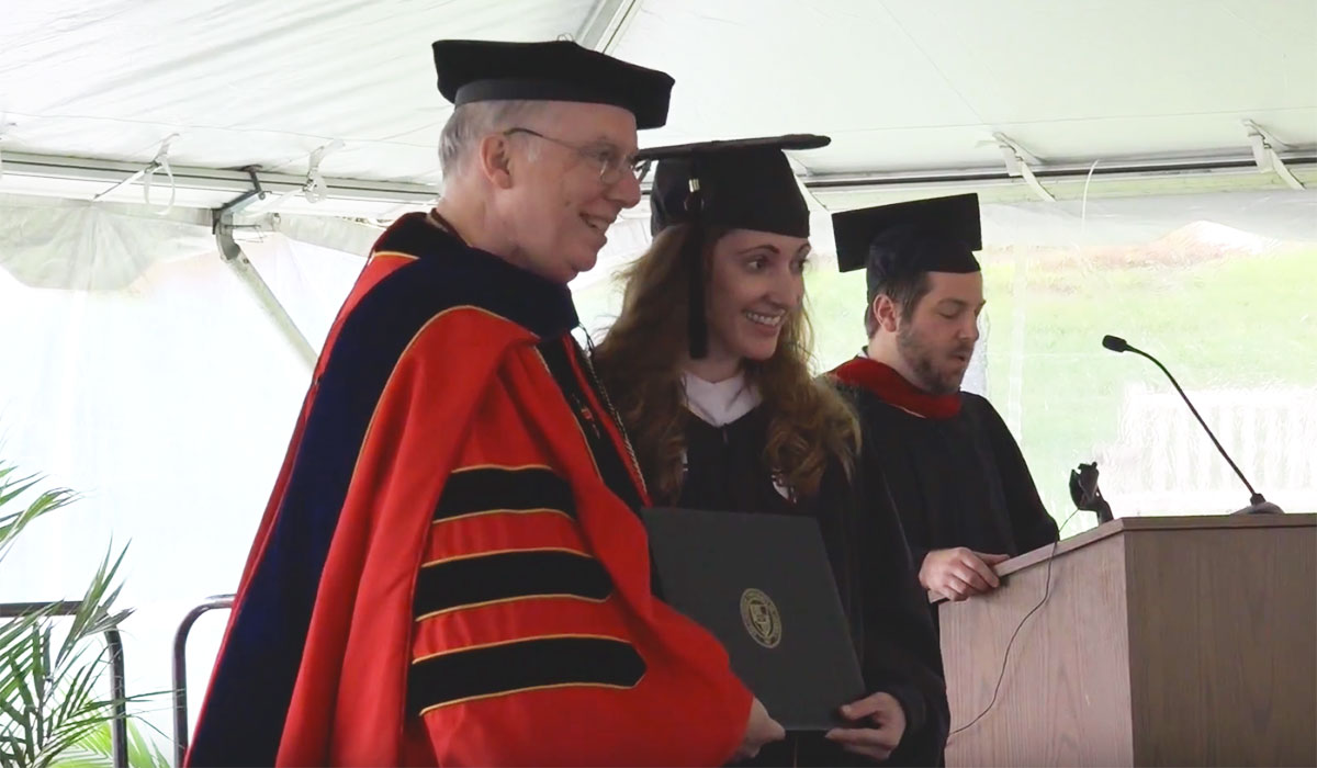 Dean Kiernan in the 2017 Graduation